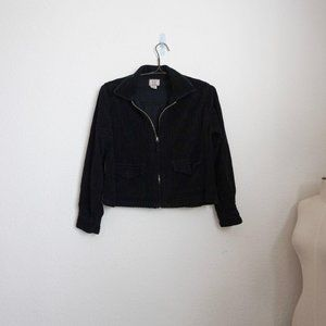 At Last vintage corduroy black cropped jacket L